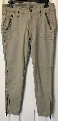 Old Navy Women's The Rock Star Stretch Skinny Pants, Zipper At Ankles, Gray, 8