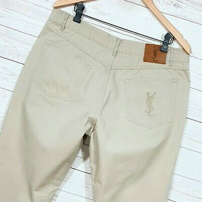 ⭐ Mens YSL Yves Saint Laurent regular straight chino jeans trousers size W36 L32