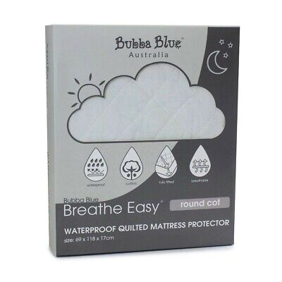 Bubba Blue Breathe Easy® Round Cot Waterproof Quilted Mattress Protector