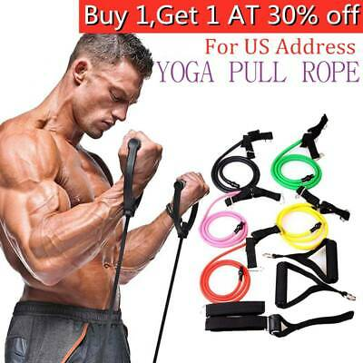 Resistance Bands Loop Exercise Rubber Gym Yoga Elastic Band Fitness Training US