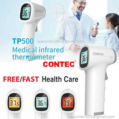 Digital No-contact Infrared Thermometer Rapid Body Forehead Temperature Gun LCD