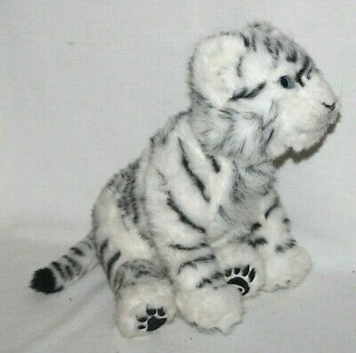"Wowwee White Tiger Cub Plush Toy Interactive 18"" Kitty Cat Siberian Jungle Cute"
