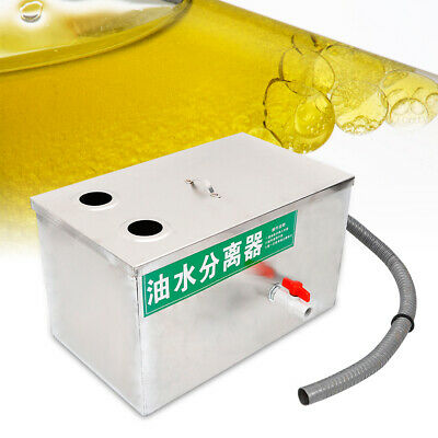 Commercial Grease Oil Trap Interceptor Stainless Steel Oil-water Separator 6.6L