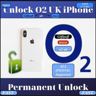 o2/giffgaff /Tesco iPhone X,8/8+,7/7+,6s/6s+,SE To 3gs unlocking Fast Service