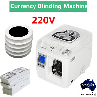 220V Intelligent Automatic Bank Cash Money Strapping Binding Machine for Bank