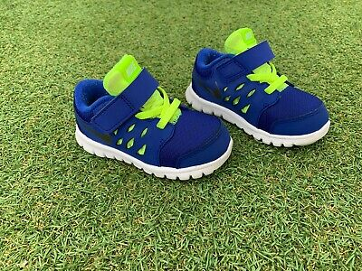 Nike Kids Runners Shoes. Size US 6C. Blue And Fluro Yellow.
