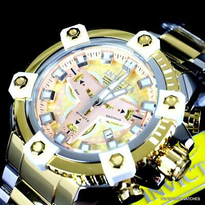 Invicta Grand Octane Coalition Forces 63mm Gold Plated Steel Swiss Mvt Watch New