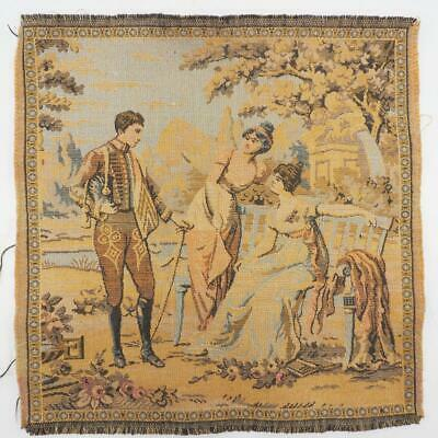 Antique French Tapestry Jacquard Woven Vintage tapestry made in France