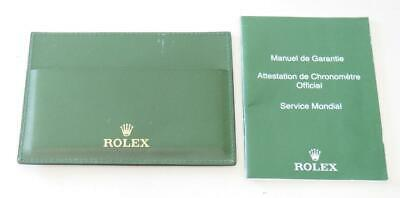 Original Rolex Booklet for Your Rolex & leather Wallet Both Original Rolex Items