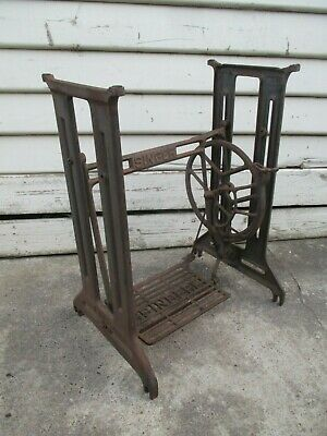 Vintage Singer sewing machine frame table cast iron wrought iron.