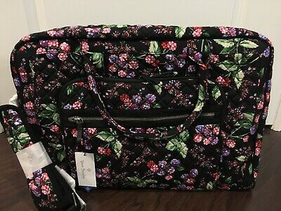 NEW Vera Bradley WINTER BERRY Iconic Weekender - Travel Bag Luggage Carry On