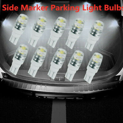 10X 12V T10 SMD Wedge LED Light Bulb Globe White 2825 168 194 192 W5W 501 158