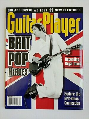 Guitar Player Magazine March 1998 Brit Pop Heroes Cover Recording Royal Tones
