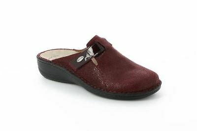 Grunland CE0555 with Bordeaux Woman Slippers Plantar Extractable Leather Tear