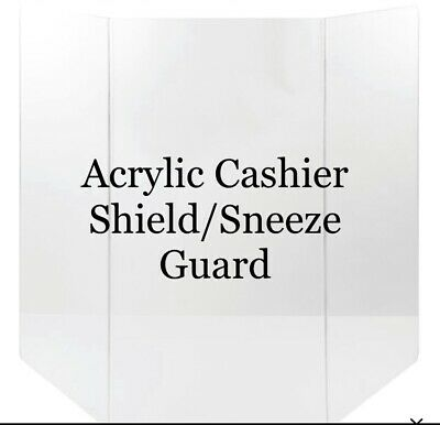 Acrylic Cashier Shield/Sneeze Guard Over 2ft Wide FREE STANDING