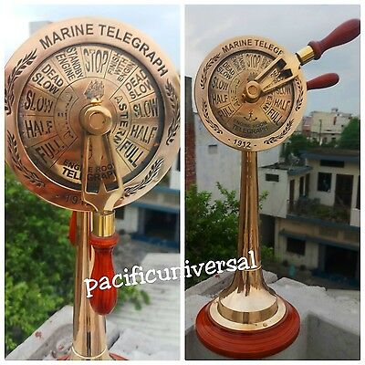 Vintage Marine Ship Working Bell Nautical Brass Telegraph Maritime Collectible .