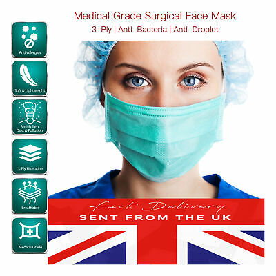 Face Mask Adjustable Germs Comfort Medical Surgical Quality MULTI PACK