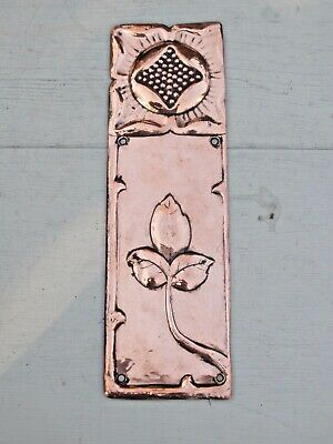 Lovely Rare Arts & Crafts Copper  Finger Plate circa.1900