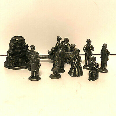 Vintage Pewter Die Cast Miniatures Figurines IRS Set of 10