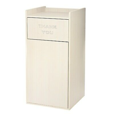 Alpine Industries White Wooden Waste Bin Receptacle 40 Gallon Trash Can