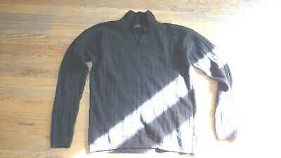 Le Collezioni Structure Lambswool Rabbit hair V Neck brown Sweater Size Small