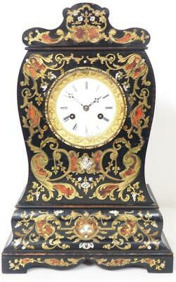 Amazing Boulle Ormolu French Mantel Clock 8 Day Striking Mantle Clock Circa 1840