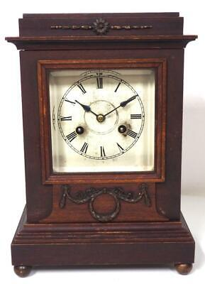 Good Antique Striking Bracket Clock Junghans 8 Day Ting Tang Mantel Clock c1895