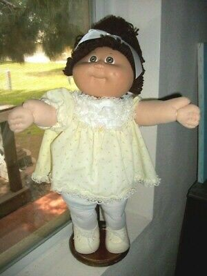 Cabbage Patch Kids 1985 Hm3 Girl Brn Eyes Single Pony Dimple Vtg Clothes Diaper