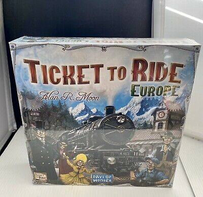 New Days of Wonder: Ticket to Ride Europe Board Game 2-5 Players For 8years +