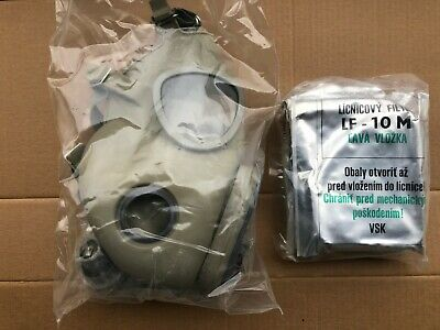 VINTAGE Unissued Sealed Czech M10M Military Gas Mask WITH Filters SEALED IN BAG