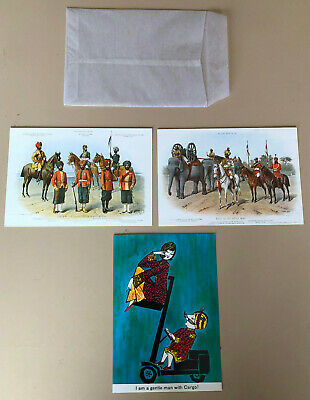VINTAGE NEW AIR INDIA POST CARDS 1950's LOT OF 3