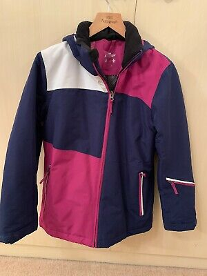 Girls Crane Ski Jacket Navy/Pink Jacket age 12 Worn Once Excellent Condition
