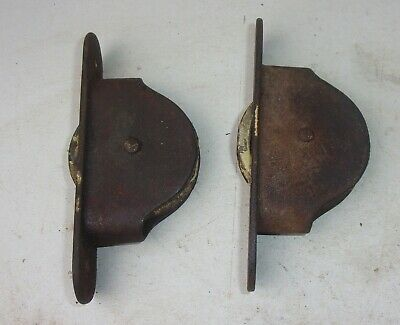 Two Antique Victorian Cast Iron Sash Window Pulley Wheels