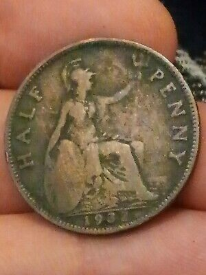 1932 British half penny 1/2 p PENCE George V collectable coin 230320