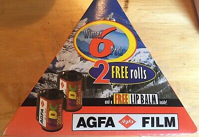 VINTAGE AGFA COLOR HDC 200 6 Rolls Of 24+3 FILM 35mm  Expired 11/1999