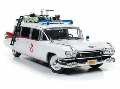 Voiture CADILLAC Miller Meteor Ghostbusters ECTO 1 Ambulance SOS Fantômes 1/18