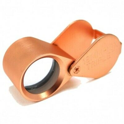 Rose Gold Triplet Loupe 10x Mag Jewellers Watchmakers Hallmarks - HP4610RG