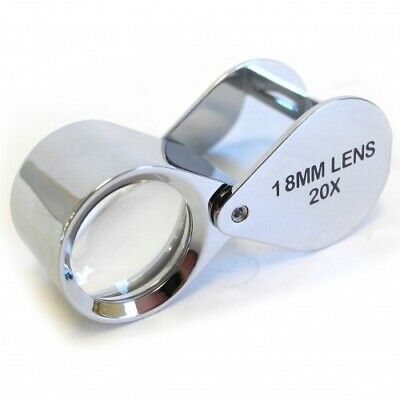 Chrome BodiedTriplet Loupe 20x Mag Jewellers Watchmakers Hallmarks - HP4720