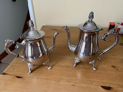 Solid Silver Teapot and Coffee Pot Ranleigh Silverware