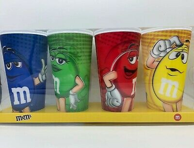 M&M's 3D Cup Set Big Set Of Cups Set Of 4 (24oz )Cups