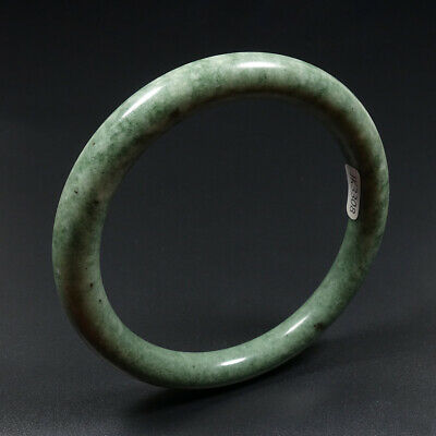 63mm Chinese 100% Natural Green Jade Bracelet Bangle K3308