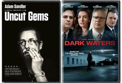Uncut Gems & Dark Waters (DVD 2020) Set of 2 Great Drama/Thrillers! Ship Free!