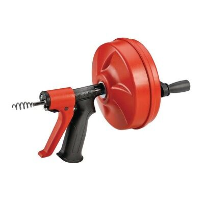 Ridgid PowerSpin Plus Squeeze Trigger Hand Grip Cable Feeds Comfortable Feel