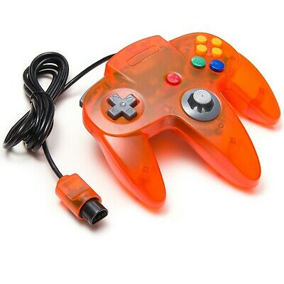 Wired Controller Gamepad Joystick for Nintendo 64 N64 Game Console-Clear Orange