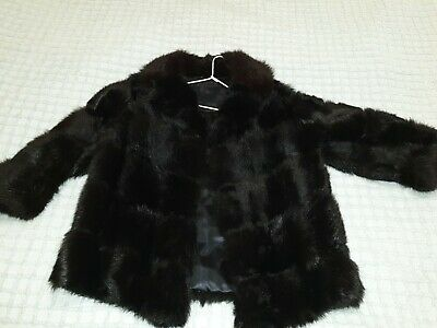 ** VINTAGE Women's Fur Coat Tailored From 1980's  **