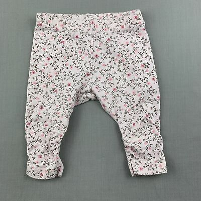 Girls size 000, Bebe by Minihaha, pink floral stretchy leggings / bottoms, FUC