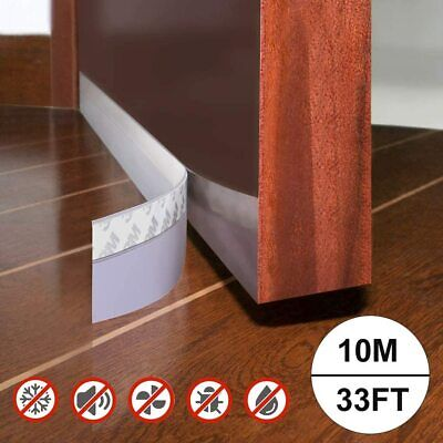 Silicone Seal Weather Stripping,10M//33ft Adhesive Seal Strip Bottom for Doors /& Window Sealing Sticker Adhesive Gaps of Anti-Collision Silicone 25MM, Transparent