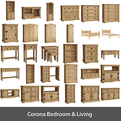 Corona Chest of Drawers TV Stand Table Solid Pine Living Room Bedroom Furniture