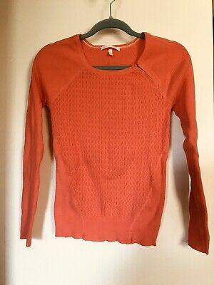 Victorias Secret Coral Stretch L/S Vintage Sweater Size L-EUC!