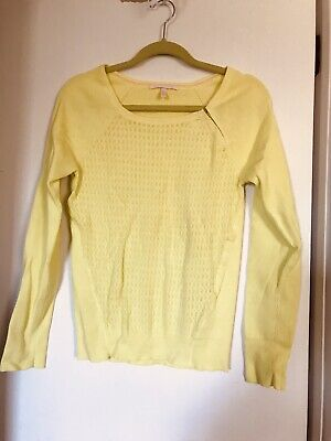 Victorias Secret Neon Green  Stretch L/S Vintage Sweater Size L-EUC!